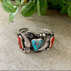 Large Cuff Bracelet Vintage Native American